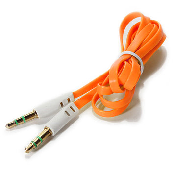 Battleborn 3.5mm Cable Male M/M Stereo Audio AUX Auxiliary Flat Noodle Cord PC iPod MP3 CAR