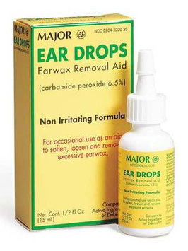 First Aid Only Ear Drops (Application: Wax Remover, Size: 1/2 fl oz, Bottle Package Type). Model: M797GR