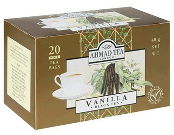 Ahmad Tea Vanilla Black Tea, Tea Bags, 20 ct Boxes, 6 pk