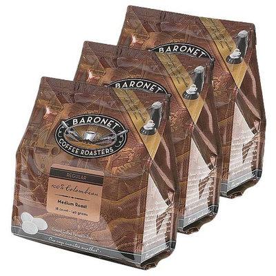 Baronet Coffee 100% Colombian Medium Roast, 140 g, 18 ct Coffee Pods, 3 pk