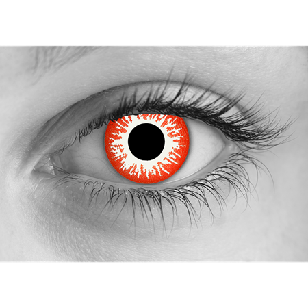 Special Effects Zombie Undead Red Halloween Contact Lenses
