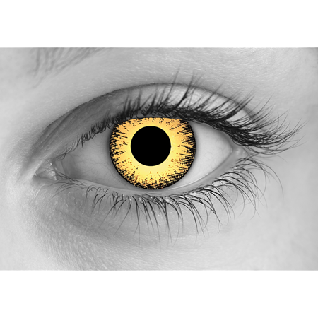 Special Effects Zombie Undead Yellow Halloween Contact Lenses