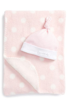 Mud Pie Sweet Baby Receiving Blanket & Hat Set, Size One Size - Blue