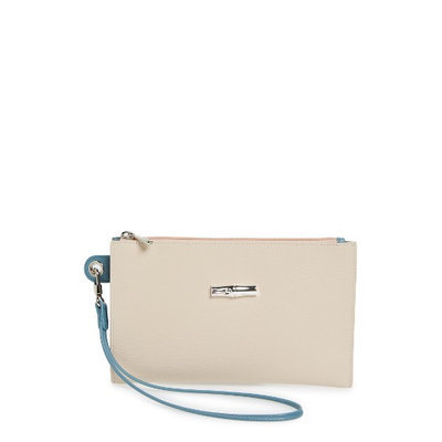 Longchamp Roseau Flat Cosmetics Case, Size One Size - Ivory
