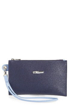Longchamp Roseau Flat Cosmetics Case, Size One Size - Navy