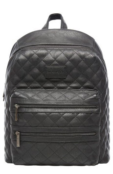 Infant The Honest Company City Quilted Faux Leather Diaper Backpack - Black