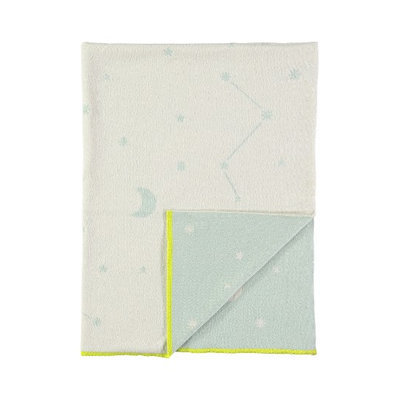 Meri Meri Organic Cotton Knit Blanket, Size One Size - Blue