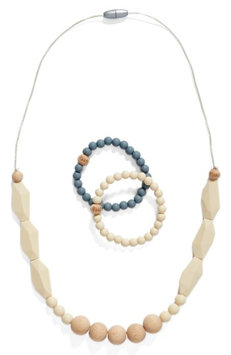 Infant Bella Tunno 3-Piece Teething Necklace & Bracelet Set, Size One Size - White