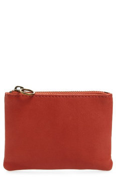 Madewell Small Leather Pouch, Size One Size - Tiger Lily