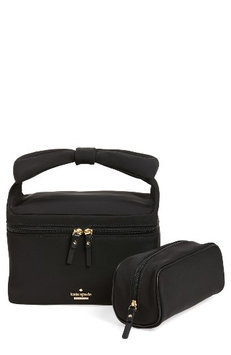 Kate Spade New York Haring Lane - Joelie Nylon Cosmetics Case, Size One Size - Black