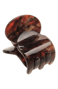 France Luxe Mini Oval Jaw Clip, Size One Size - Brown