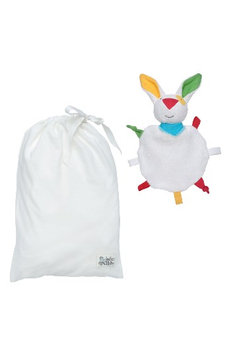 Under The Nile 2-Piece Fitted Crib Sheet & Stuffed Bunny Toy Set, Size One Size - White