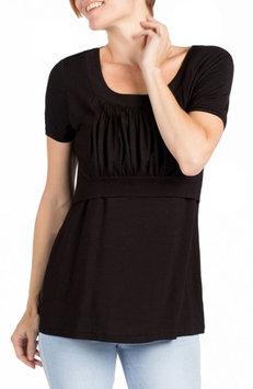 Women's Savi Mom Westin Maternity/nursing Top, Size Large - Black