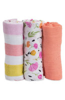 Little Unicorn 3-Pack Cotton Muslin Blankets, Size One Size - White