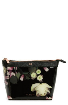 Ted Baker London Zaire Kensington Floral Print Cosmetic Pouch, Size One Size - Black