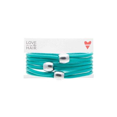 Love Is In The Hair Beach 3-Pack Hair Ties, Size One Size - Blue