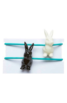 Love Is In The Hair Bunny 2-Pack Hair Ties, Size One Size - Blue