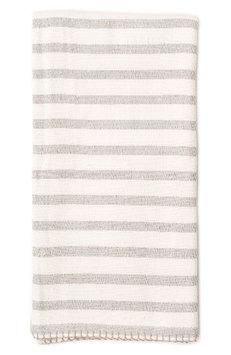 Lil Lemon By Zestt Classic Stripe Organic Cotton Blanket, Size One Size - Grey