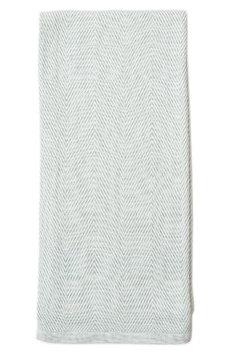 Lil Lemon By Zestt Herringbone Organic Cotton Blanket, Size One Size - Blue