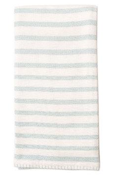 Lil Lemon By Zestt Classic Stripe Organic Cotton Blanket, Size One Size - Blue