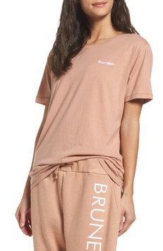 Women's Brunette Brunette Tee, Size Medium/Large - Coral