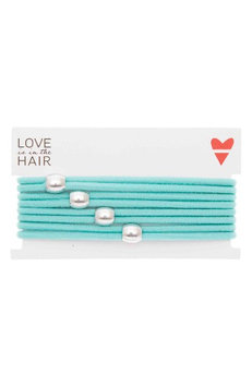 Love Is In The Hair Racer 4-Pack Hair Ties, Size One Size - Blue