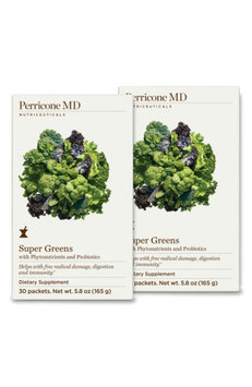 Perricone Md Super Greens Dietary Supplement Drink Powder Duo