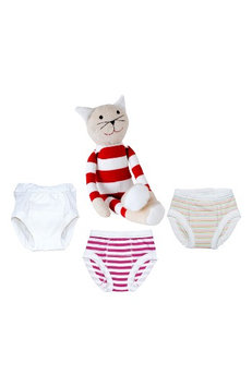 Infant Under The Nile 4-Piece Training Pants & Tilly Stuffed Animal Set, Size 12-24M - Pink