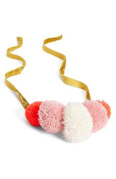 Meri Meri Yarn Pompom Crown, Size One Size - Pink