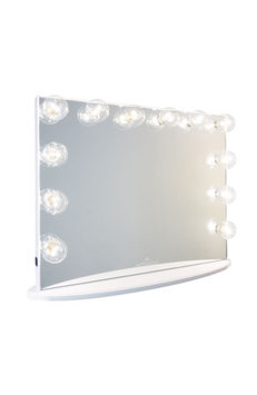 Impressions Vanity Co. Hollywood Glow(TM) Plus Vanity Mirror, Size One Size - Glossy White
