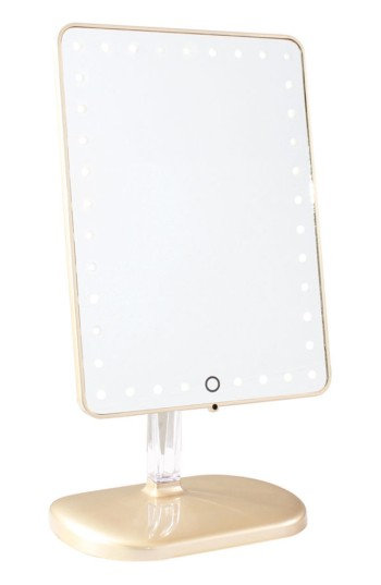 Impressions Vanity Co. Touch Pro Led Makeup Mirror With Bluetooth Audio & Speakerphone, Size One Size - Glossy Champagne
