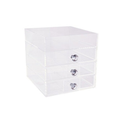 Impressions Vanity Co. Diamond Collection 4-Drawer Acrylic Organizer, Size One Size - Clear