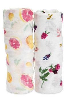 Little Unicorn 2-Pack Muslin Swaddle Blanket, Size One Size - White