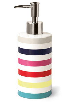 Gap Kate Spade New York Candy Stripe Lotion Dispenser, Size One Size - Blue/green