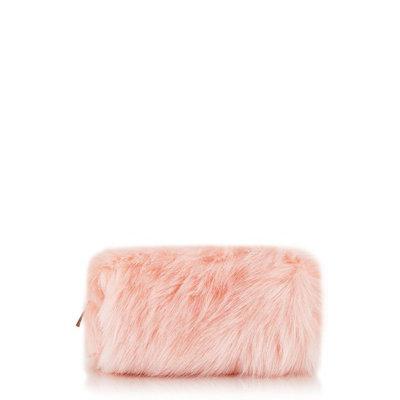 Skinnydip Pink Fluffy Make Up Bag, Pink