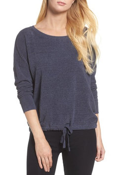 Barefoot Dreamsr Women's Barefoot Dreams Cozychic Ultra Lite Lounge Pullover, Size Small - Grey