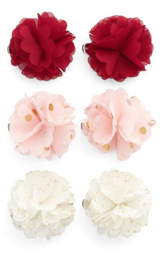 Capelli Of New York 6-Pack Flower Hair Clips, Size One Size - Purple