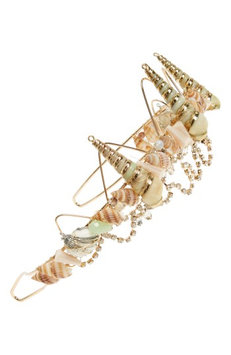 Topshop Mermaid Hair Crown, Size One Size - Metallic