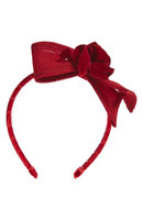David Charles Techno Flower & Bow Headband, Size One Size - Red