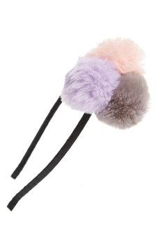 The Accessory Collective Accessory Collective Pompom Headband, Size One Size - Pink