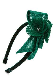 David Charles Techno Flower Headband, Size One Size - Green