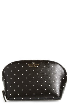 Kate Spade New York Brooks Drive - Small Abalene Faux Leather Pouch, Size One Size - Black/ Cream