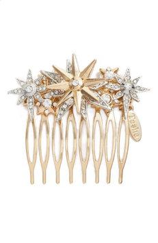 Tasha Star Crystal Hair Comb, Size One Size - Metallic
