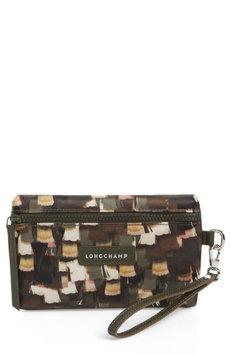 Longchamp Le Pliage Neo - Vibrations Nylon Cosmetics Case, Size One Size - Khaki