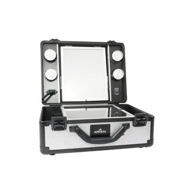 Impressions Vanity Co. Slaycase(TM) Vanity Travel Case, Size One Size - Sparkling Silver
