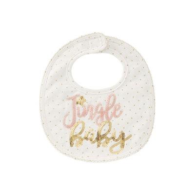 Infant Mud Pie Jingle Baby Bib, Size One Size - White