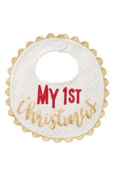 Infant Mud Pie My First Christmas Bib, Size One Size - Metallic