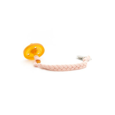 Madelines Box Infant Madeline's Box Softy Braided Pacifier Clip, Size One Size - Pink