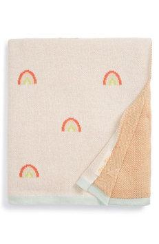 Meri Meri Organic Cotton Knit Blanket, Size One Size - White