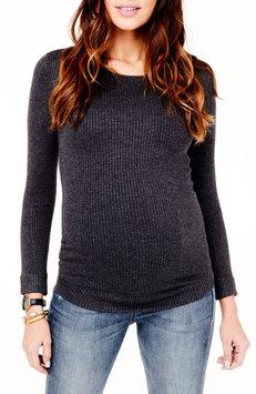 Ingrid & Isabelr Women's Ingrid & Isabel Ribbed Maternity Sweater, Size Medium - Grey